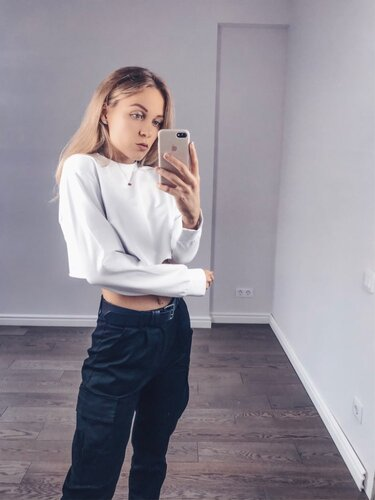 Rapwriter Fashion Solid Harajuku Cotton Basic Sweatshirt Women 2019 Autumn Loose O-Neck Long Sleeve Stretch Crop Top Pullovers