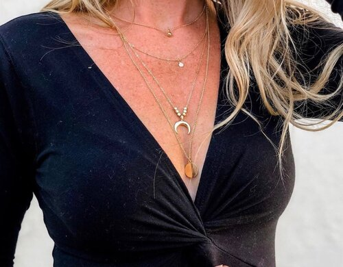 Bohemian Multi Layered Necklace Women Choker Vintage Gold Color Crystal Star Moon Coin Necklace Collares Statement Jewelry