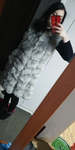 90 CM Medium Long Artifical Fox Fur Vest Women Winter Fashion Faux Fox Fur Vests Woman Warm Fake Fox Fur Coats Female