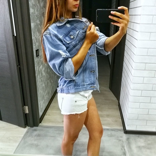 RUGOD Jeans Jacket Women Casacos Feminino Slim Ripped Holes Denim Jacket Femme Elegant Vintage Bomber Jacket 2018 Basic Coats