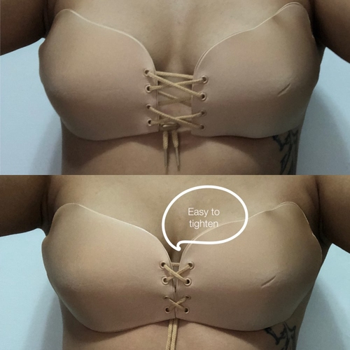 Women Self Adhesive Strapless Bandage Blackless Solid Bra Stick Gel Silicone Push Up women's underwear Invisible Bra
