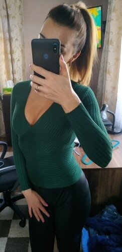 Sexy Winter Knitted Sweater V Neck Cashmere Sweater Female 2019 Women Sweaters And Pullovers Autumn Long Sleeve Sweater Jumper